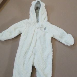 Carter's baby Bear hooded playsuit 3M